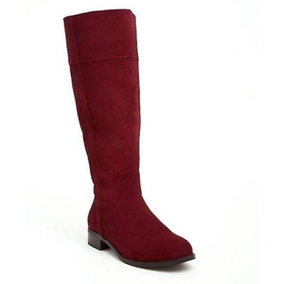 b290676dc93 Torrid 9 Wide Shoe   Calve Suede Oxblood Knee Boot.  M 5b88a3887ee9e20b3a37a686